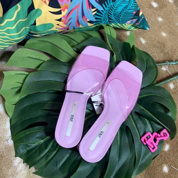 Pink Translucent Zara Wedge